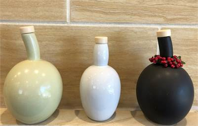 Ceramic Olive Oil Bottles for Your Tasting Bench and Kitchen