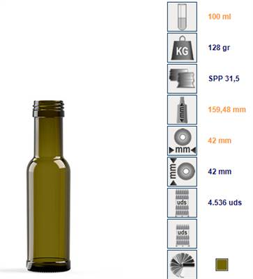 European Bottle 100mL with 31.5 x 24 closure compatibility : SPECIAL OFFER