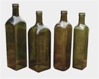 REBA Square Bottles in Antique Green