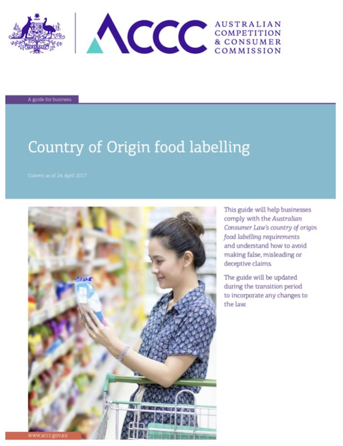 Country of Origin Food Labelling