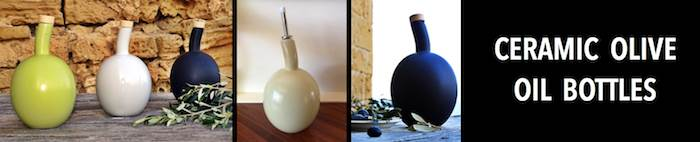 Ceramic EVOO Containers